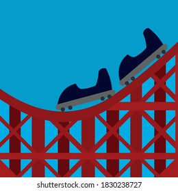 Vector illustration roller coaster concept
