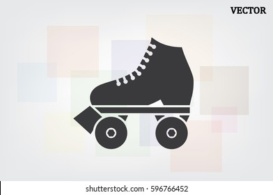 vector illustration of roller skate icon
