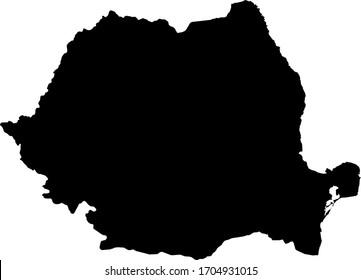 vector illustration of Romania map