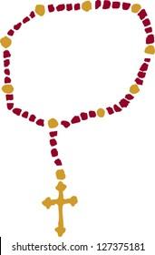 Vector illustration of rosary