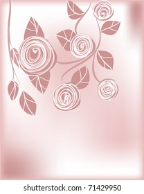 vector illustration of a roses background