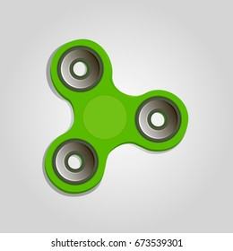 vector illustration rotation green spinner. Anti nervousness, stress, psychosomatic disorder. Realistic colorful creative web design. Techniques: gradient,drawn, lines. Classical common form.