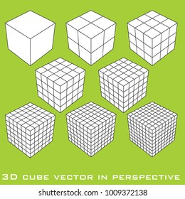 Vector illustration of Rubik's Cube. hong kong 25.01.2018