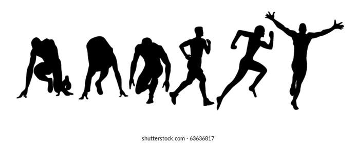 vector illustration of run