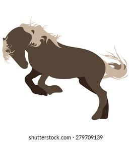 vector illustration of running horse