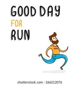 Vector illustration running man