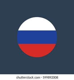 vector illustration of Russia flag