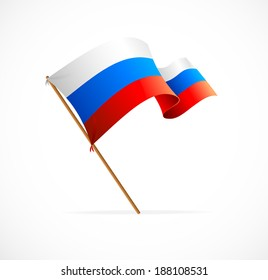 Vector illustration Russia flag on white background