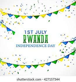 Vector illustration of Rwanda independence day.