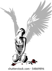 A Sad Angel Stock Illustrations Images Vectors Shutterstock