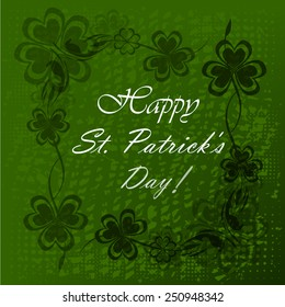 Vector illustration of Saint Patrick's Day background with clove