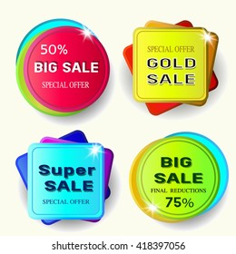 Vector illustration with sale.