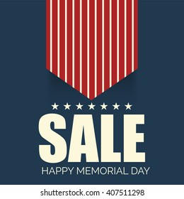 Vector illustration of a Sale background for Happy Memorial Day.