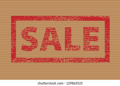 Vector illustration of a sale sign.