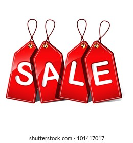 Vector illustration of sale tags
