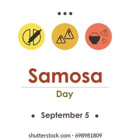 vector illustration for samosa day in september