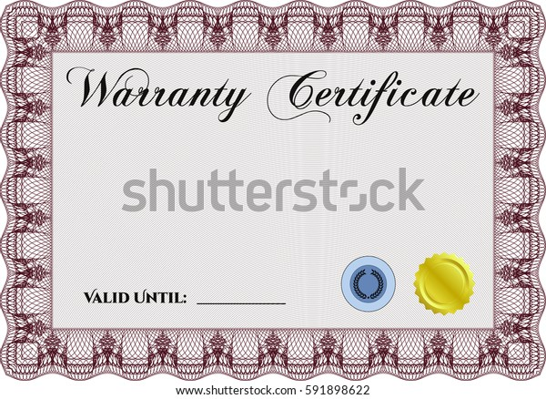Vector illustration of Sample Warranty certificate icon in Brown