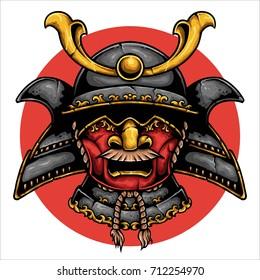 vector illustration of samurai ronin japanese armor