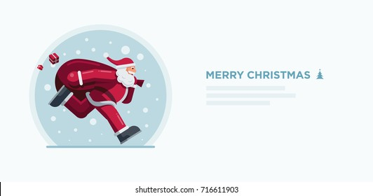 Vector illustration of Santa Claus. Christmas concept design.