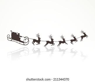 Wonderful Santa Sleigh Images, Stock Photos & Vectors | Shutterstock XJ37