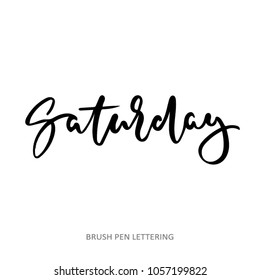 Vector illustration Saturday. Hand lettering Saturday for the calendar, diary, notes, banner, poster.