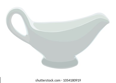 Vector illustration of a sauce-boat