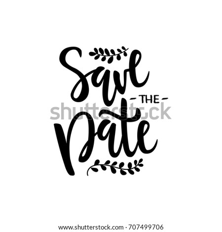 vector illustration save date text wedding stock vector royalty