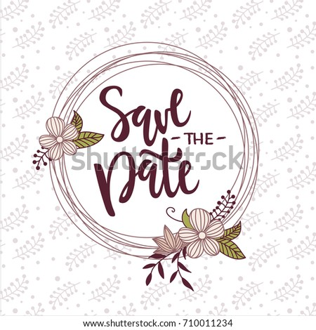 vector illustration save date text background stock vector royalty