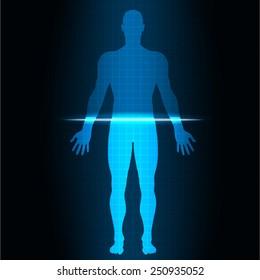 vector illustration Scan human