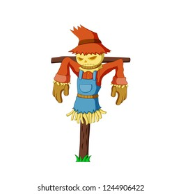 Vector illustration scarecrow cartoon
