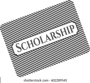 Vector illustration of Scholarship with pencil strokes