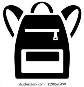 Vector Illustration of School Backpack. Backpacks for children, students, travelers and tourists. Vector illustration of flat design school backpack isolated on white background.