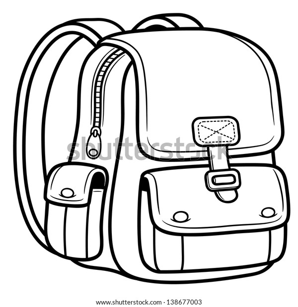 Vector illustration of school bag - Back to school