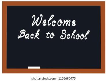 vector illustration of a school blackboard welcome back to school