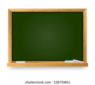 Vector illustration of school chalkboard