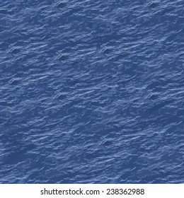 Vector Illustration of Sea Surface Seamless Pattern Background