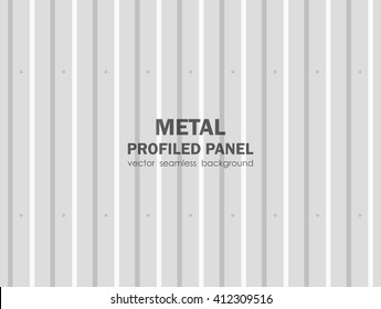 Vector illustration: Seamless background of metal profiled panel