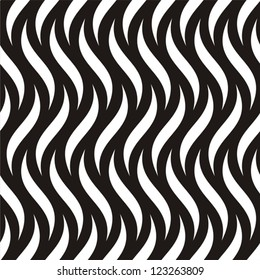 Vector illustration of seamless black-and-white geometric pattern