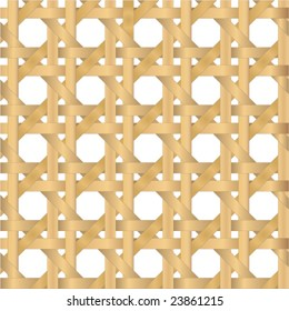 Vector illustration of a seamless cane weave texture