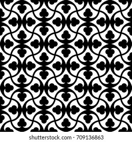 Vector illustration of Seamless Geometric Background in black and white