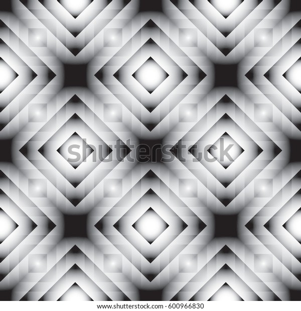 Vector illustration of seamless gray geometric pattern
