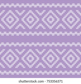 Vector illustration of a seamless knitted background