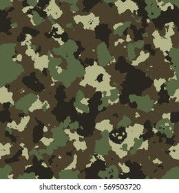 vector illustration of seamless military camouflage pattern. EPS
