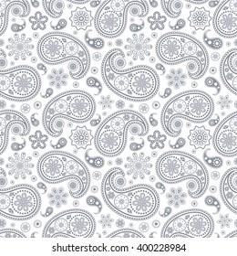 Vector illustration of seamless paisley pattern