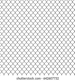 Vector illustration seamless pattern, background steel wire mesh. Grid, wire fence. Wire fencing