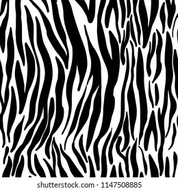 Vector illustration seamless pattern floral animal fur print background. Hand drawn style, texture wallpaper, fashion fabric, textile. Abstract skin pelage. Brush painting.