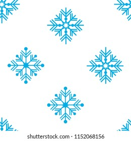 Vector illustration. Seamless pattern. Winter ornament blue snowflakes. For packaging paper