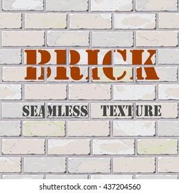 vector illustration seamless texture of white bricks