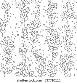 Vector illustration of seamless from the verticals from the leaves and berries.