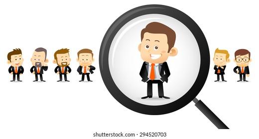 Vector illustration - Searching right man